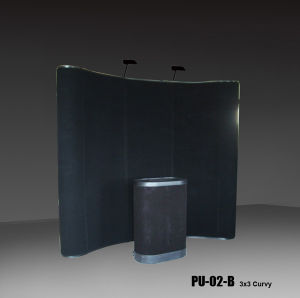 3X3 Curvy Shape Magnetic Pop up Display with PVC Panel (PU-02-B) pictures & photos
