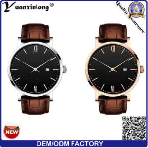 Yxl-133 Fashion Genuine Leather Watch Mens Good quality Quartz Wrist Watch Luxury Waterproof Vogue Watches pictures & photos