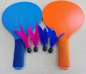 Indoor and Outdoor Sports Wooden Badminton Rackets and Shuttlecock pictures & photos
