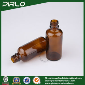50ml Amber Refillable Glass Spray Bottles with Black Plastic Lotion Pump Sprayer pictures & photos