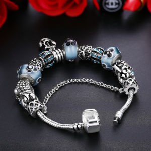 Antique Anchor Pendant & Safety Chain Flower Beads Shell Charms Bracelets Jewelry pictures & photos