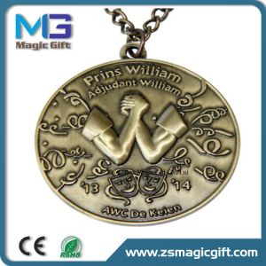 Cheap Price Customized Race Antique Brass Metal Medal pictures & photos