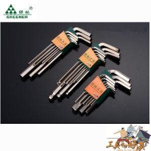 Chrome Finished 9 PCS Allen Key/ Hex Key Set pictures & photos