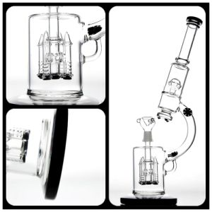 Glass Smoking Pipe Microscope Model with Four Black Rockets pictures & photos