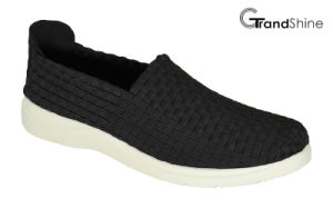 Women Casual Sports Knitting Weave Shoes pictures & photos