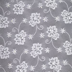 Latest Design Lace Fabric with Diamond pictures & photos