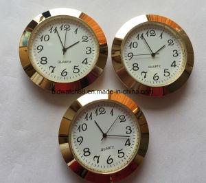 Promotional Analog Quartz Mini Metal Clock Inserts with Custom Logo pictures & photos
