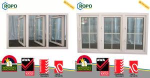 PVC Residential Casement Window, UPVC Triple-Pane Storm Window pictures & photos