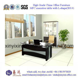 Wooden Office Furniture MFC Office Table with L-Shape (D1608#) pictures & photos
