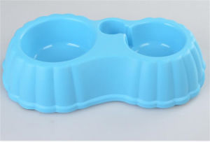 New Double Large Plastic Pet Dog Bowl pictures & photos