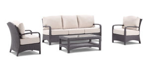 Garden Leisure Wicker Rattan Lounge Outdoor Patio Sofa Set Furniture