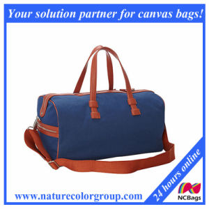 Men′s Large Canvas Weekender Travel Bag with Leather Trim pictures & photos