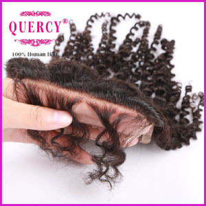 Most Popular Products Brazilian Human Hair Swiss Lace Closure, 3.5*4-Inch, Curly Style pictures & photos