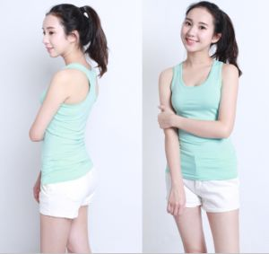 Gym Clothes OEM 100% Cotton Tops Fashion Women Tank Top pictures & photos