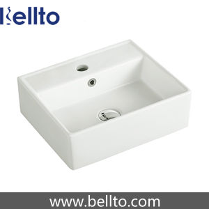 China Ceramic Square Wash Basin for Cloakroom or Bathroom (3308) pictures & photos