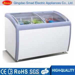 R134A Supermarket Sliding Glass Door Ice Cream Chest Freezer pictures & photos