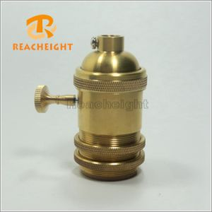 Brass Lamp Holder with Switch pictures & photos