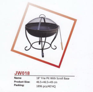 "18"" Fire Pit with Scroll Base pictures & photos"