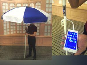 Green Energy Product with Solar Panels Recharger Solar Sun Umbrella