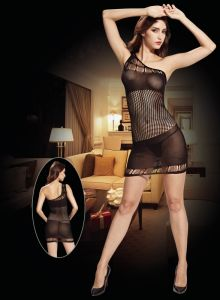Single Shoulder Fishnet Baby Doll 8935 pictures & photos