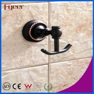 Fyeer Black Series Bathroom Fittings Brass Hanging Robe Hook pictures & photos
