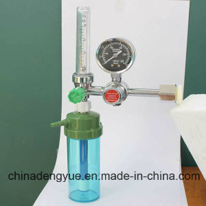 Oxygen Flowmeter with Humidifier Bottle Oxygen Regulator Manufacturer pictures & photos