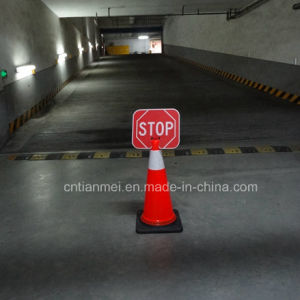 Traffic Cone with Stop Sign, Red PVC Road Safety Cone pictures & photos