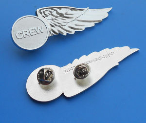 Metal Crew Wing Badge 3D Logo Badge pictures & photos
