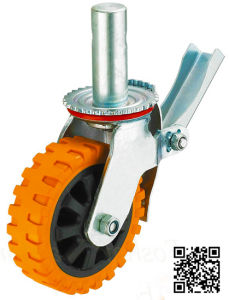 Heavy Duty Scaffolding PU Tyre Caster pictures & photos