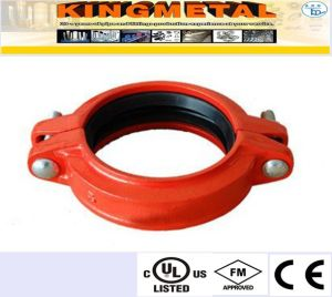 FM/UL Ductile Iron Grooved Rigid Coupling for Fire System pictures & photos