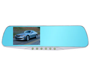 HD 1080P 4.3′′ 140 Degree Dual Camera Rearview Mirror Car DVR pictures & photos