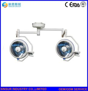 Qualified Hospital Ceiling Mounted Double Head Shadowless Halogen Operation Lamp pictures & photos