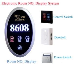 Optional Ultra-Thin Fashion Design Wireless Hotel Doorplate Door Dnd Bell System pictures & photos