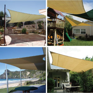 5*5*5m Polyester Triangle Shade Sail pictures & photos