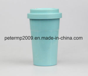 Bamboo Fiber Tableware Coffee Mug Coffee Cup with Bamboo Fiber Lid and Silicone Holder pictures & photos