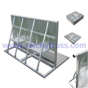High Quality Aluminum Crowd Control Barricade/Traffic Plastic Pliable Barrier /Portable Crash Crowd Barrier pictures & photos