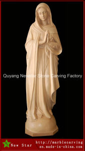 Beige Marble Statue of Virgin Mary for Home Decoration pictures & photos