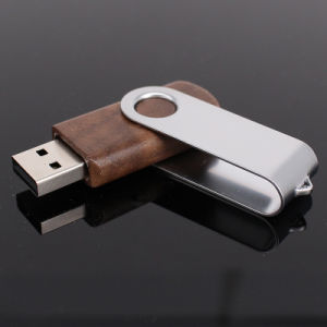 Swivel Wooden USB Flash Drive (UL-W005-03) pictures & photos
