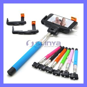 with Audio Cable Charge-Free Handheld Monopod Mobile Phone Wired Cable Take Pole Z07-7 Self Stick pictures & photos