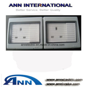 at C005, 2 Socket Switch 13A + 2* 1 Gang 1 Way Push 10A, Waterproof Switch, IP56 pictures & photos