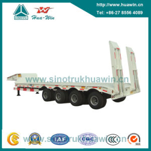 60 Ton 4 Axle Low Bed Semi Trailer pictures & photos