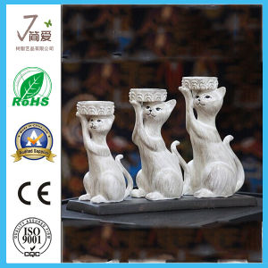 Cute Resin Craft Cat Sculpturetealight Candle Holder pictures & photos