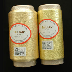 600d Pure Gold Metallic Yarn pictures & photos