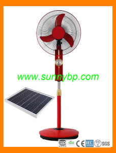 New Design 12V DC Function Solar Power Rechargeable Stand Fans pictures & photos