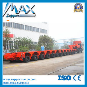250 Ton Modular Low Bed Semi Trailer/4+6 Modules Trailer with Hydraulic Detachable Gooseneck pictures & photos