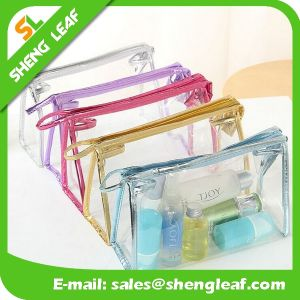 Wholeslae Price Customized Folding Clear PVC Cosmetic Bag pictures & photos
