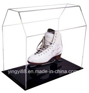 High Quality Acrylic Hockey Skate Display Case with UV Protection pictures & photos