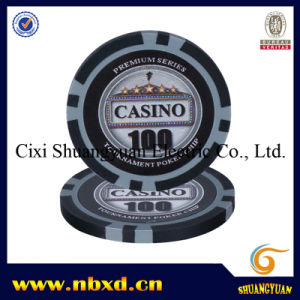 15g Classic 8 Stripe Clay Poker Chip with Custom Sticker (SY-E25) pictures & photos