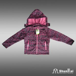Kid′s Fashion Soft Shell Jacket with Hood