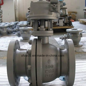 Cast Carbon Steel WCB Floating Type Flange End Ball Valve pictures & photos